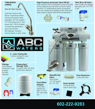 ABCwaters High Efficiency built 5 Stage Reverse Osmosis with Permeate Pump