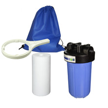 "Single 10"" Big Blue Water Filtration Kit - Perfect for RV"