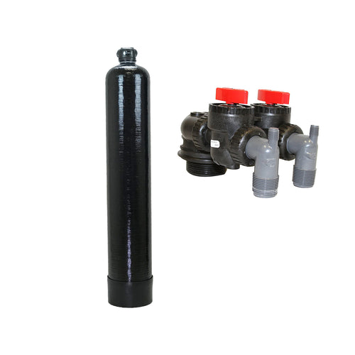 Upflow Carbon Filtration System for Whole House - Perfect for Pairing with Water Softeners