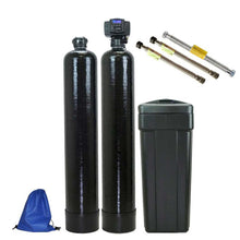 ABCwaters Built Fleck 5600SXT Water Softener with an Upflow Carbon Filter System + Connectors