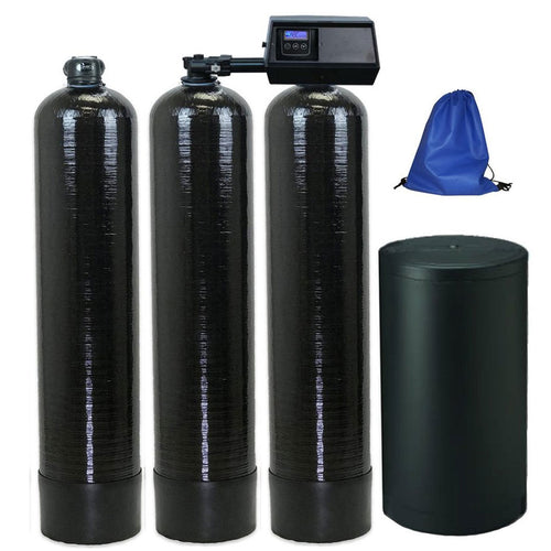 ABCwaters built Combo Fleck 9100SXT Twin Tank Water Softener with Upflow Carbon Filtration