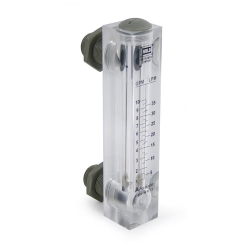 Acrylic Flow Meter: 1 - 10 GPM - Panel Mount for Commercial Reverse Osmosis System