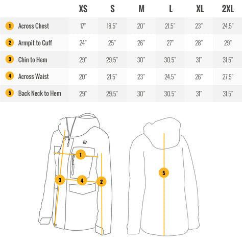 Women's Snowboarding Heated Jacket Sizing Guide