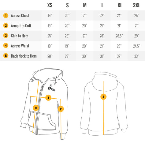 talon women's heated hoodie sizing guide chart