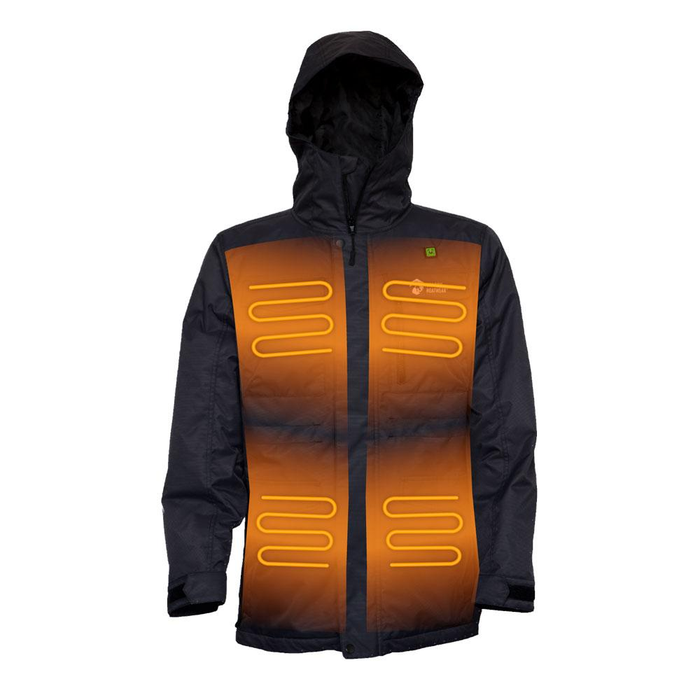 Fang Mens 5 Zone Heated Snowboard Jacket
