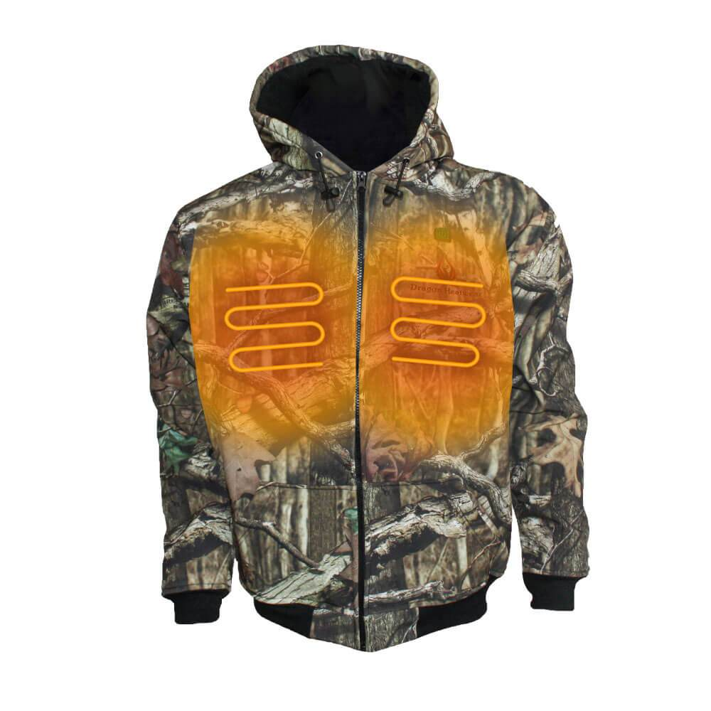Hydra Mens Heated Hoodie - Officially Licensed Mossy Oak® Break-Up® - Dragon Heatwear, Heated Gear