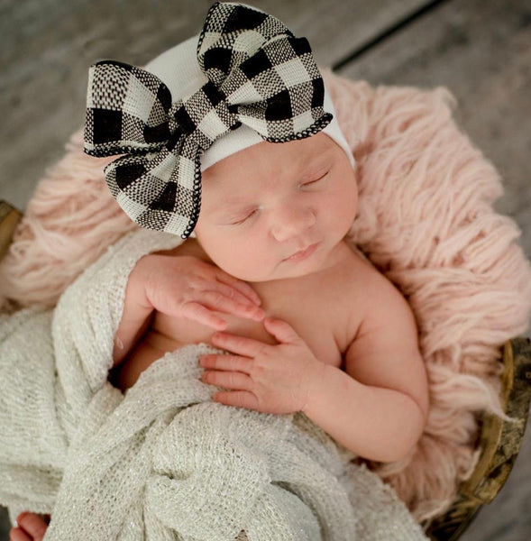 Farmhouse Chic Bow Newborn Hospital Hat