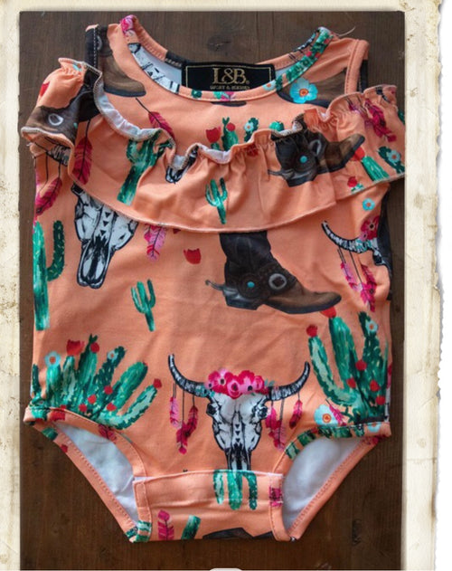 Cowskull s & Boots Rompers