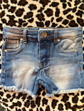 Skylar Shorty Shorts  (Light Denim)