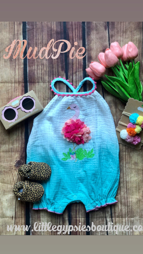 Mud Pie Flamingo Romper
