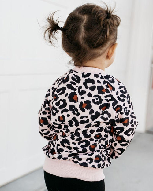 Remi Pink Leopard Pullover