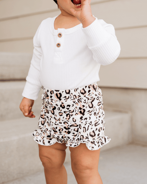 Snow Leopard High Waisted Bloomers