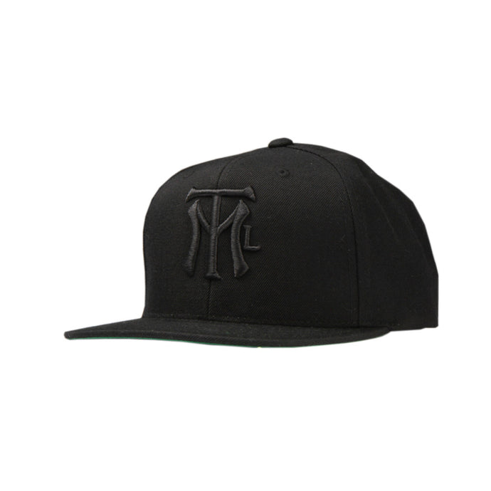 MTL LOGO BALL CAP - black / black