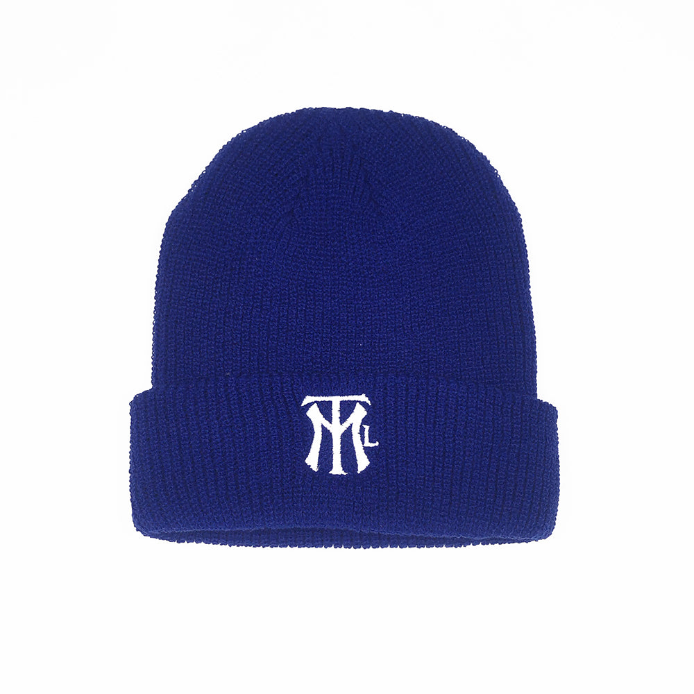 MTL LOGO RIBBED BEANIE - Bleu Royal