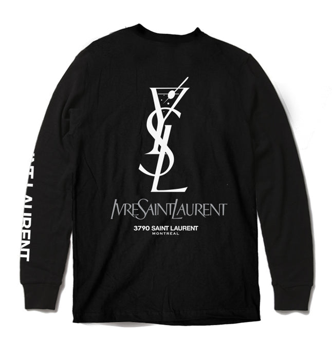 IVRE SAINT-LAURENT LONGSLEEVE - black