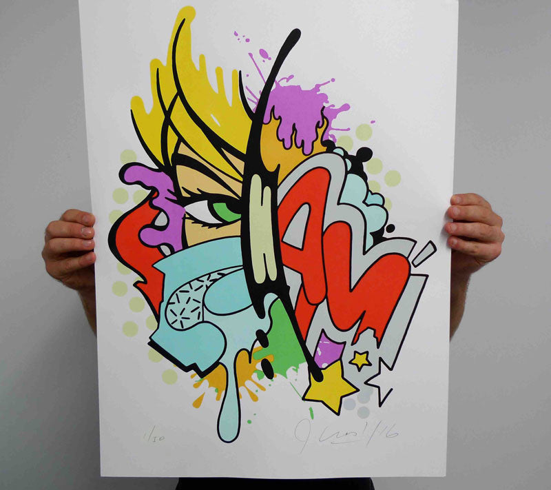 Crash X Artgang limited edition print