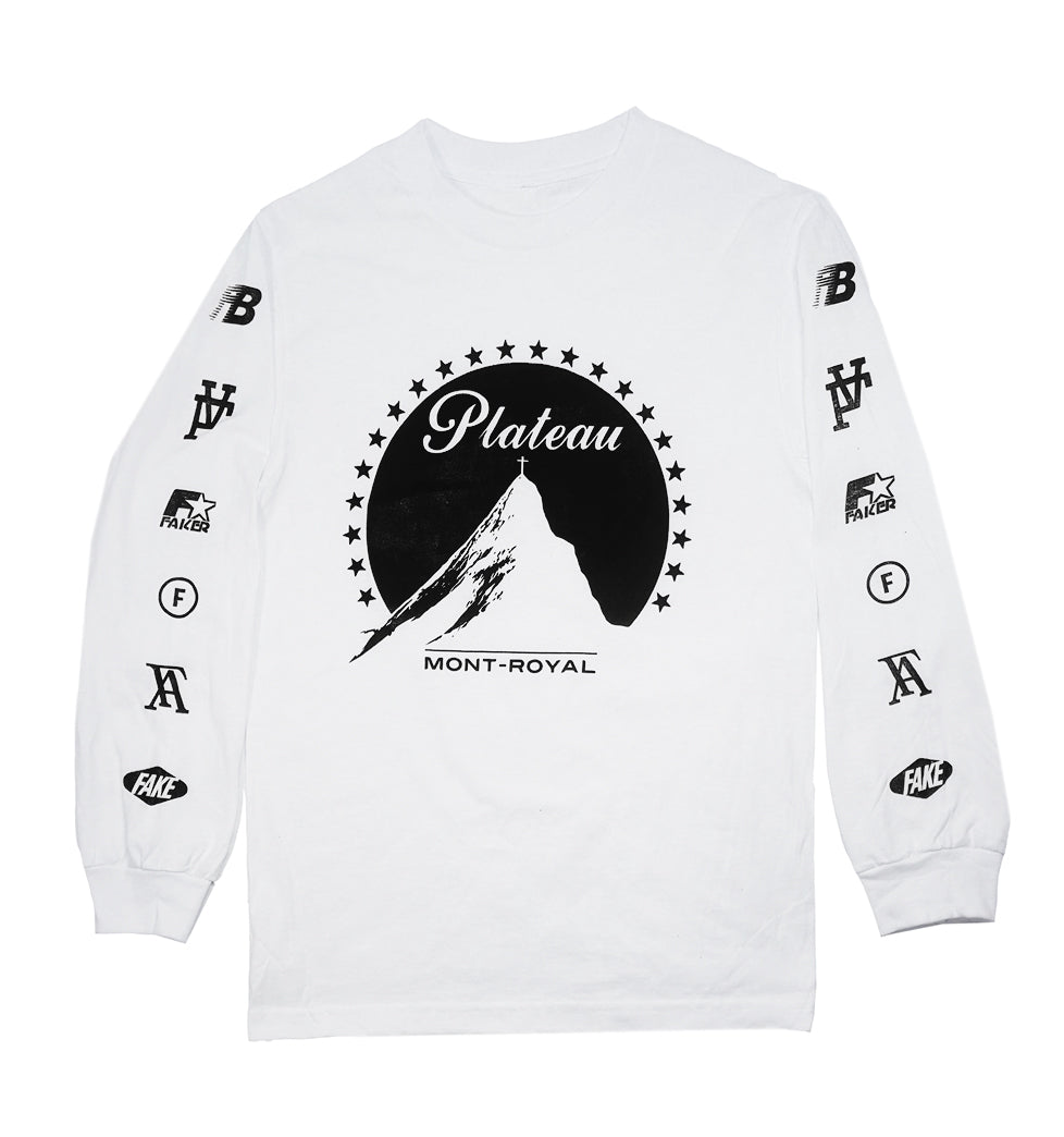 PLATEAU - Long sleeve T-shirt white
