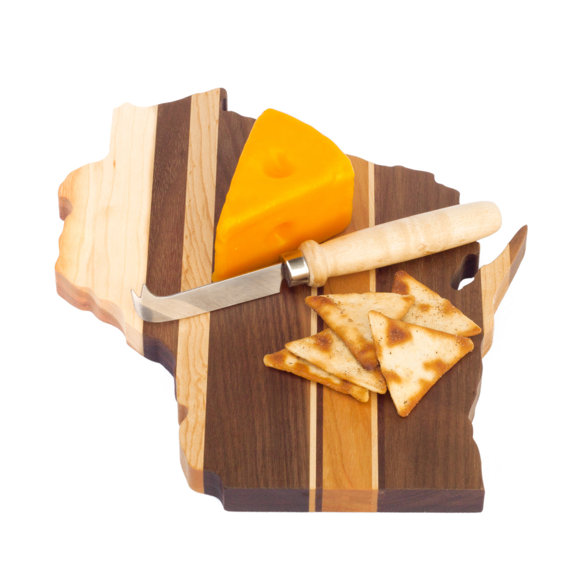 Wisconsin State Board- Cheese Board - Mixed Hardwoods