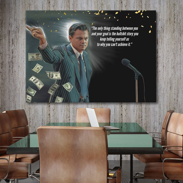 Wolf of Wall Street Canvas Art