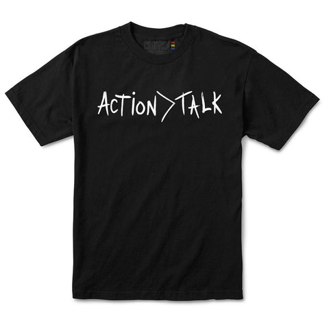 ACTION > TALK TEE IN BLACK