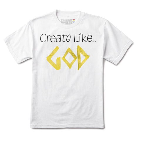 CREATE LIKE GOD T-SHIRT IN WHITE