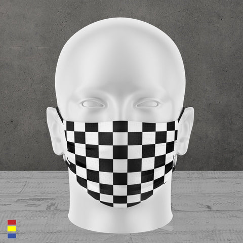 CHECKERS FACE MASK
