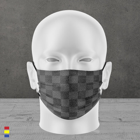 CHARCOAL CHECKERS FACE MASK