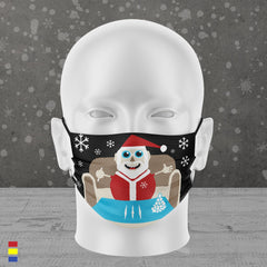 LET IT SNOW FACE MASK (BLACK)