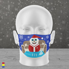 LET IT SNOW FACE MASK (BLUE)