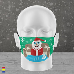 LET IT SNOW FACE MASK (GREEN)