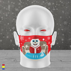 LET IT SNOW FACE MASK (RED)
