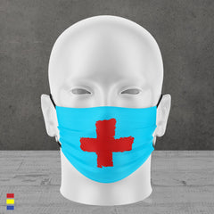 RED CROSS FACE MASK (blue)