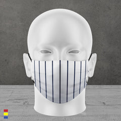 THOSE DARN PINSTRIPES FACE MASK