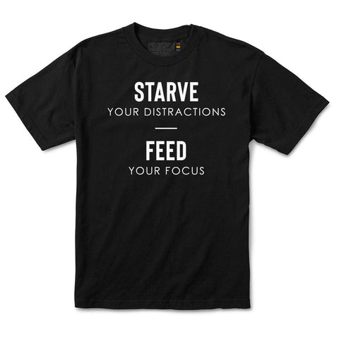 FEED YOUR FOCUS T-SHIRT IN BLACK