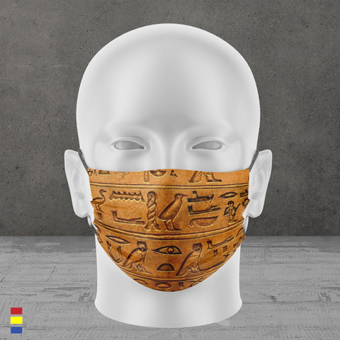 Hieroglyphics Face Mask