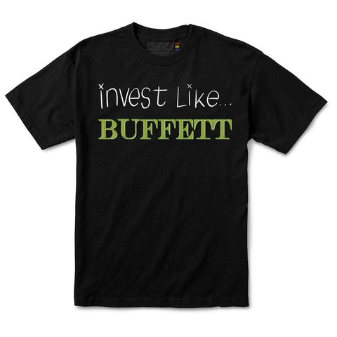 INVEST LIKE BUFFETT T-SHIRT IN BLACK