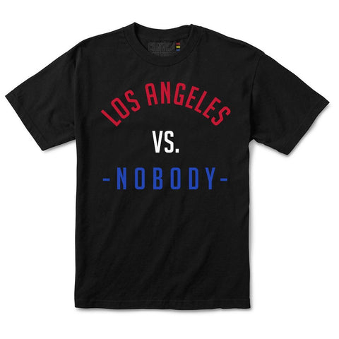 LOS ANGELES VS. NOBODY T-SHIRT IN BLACK (CLIPPERS)