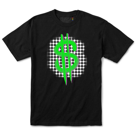 MONEY SIGN T-SHIRT IN BLACK