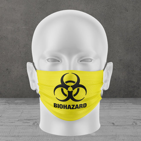 Biohazard Face Mask (Yellow)