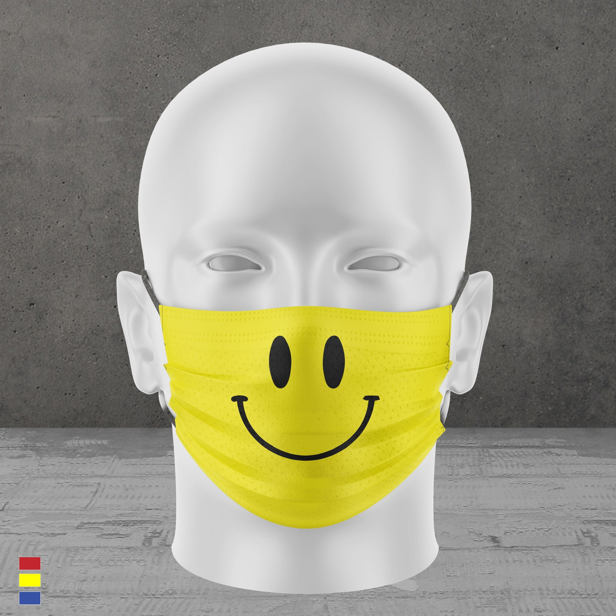 Smile Face Mask (Yellow)