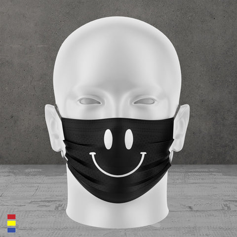 Smile Face Mask (Black)