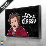 Ron Burgundy Canvas Prints