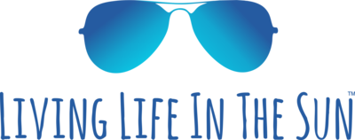 living life in the sun logo - beach tees - beach bags - beach tumblers - beach accessories - shirts with sayings