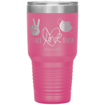 vacuum insulated tumblers - healthcare gifts - Peace Love Mask - Wear A Mask Tumbler - living life in scrubs