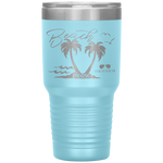 travel mug - girls weekend gift - beach please - palm trees and waves - living life in the sun