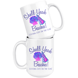 Shell Yeah, Coffee Mug, Preppy Mug, Beach Mug, Seashell Mug, Coffee Cup, Southern Mug, Beach House Decor, Coffee Gift, Mug With Saying, Cup