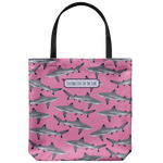 Blacktip Frenzy, Shark Tote, Shark Bag, Pink Shark Tote, Blacktip Reef Shark Tote, Blacktip Tote, Girl Shark Tote, Beach Tote, Beach Bag