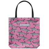 southern beach bags - southern beach totes - blacktip reef shark printed bag - summer tote bag - living life in the sun