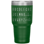southern nurse tumblers - BSN gifts - cardiology EKG Wave alphabet tumbler - qrs complex - living life in scrubs