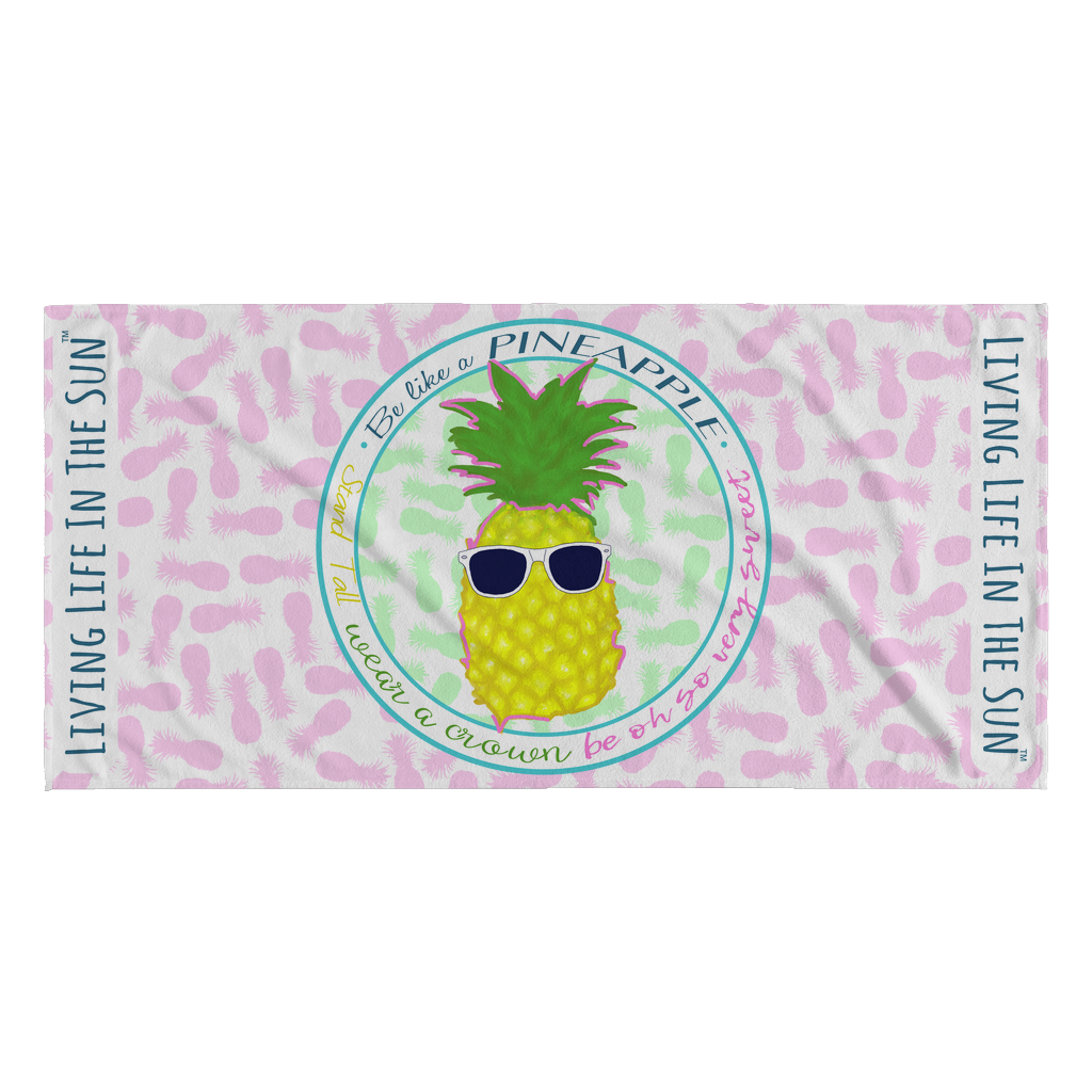 Be Like A Pineapple, Beach Towel, Pineapple Towel, Southern Towel, Preppy Towel, Pineapple Tee, Pineapple Gift, Pink Pineapple, Sunglasses